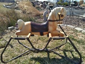 Vintage 1960s Wonder Horse Mare Rare Bouncing Rocking Spring Toy