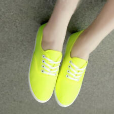 Summer Classic Womens Canvas Shoes Lace Up Casual Tennis Flats Ladies Sneakers