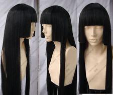 Hell Girl Enma Ai long black Straight healthy cosplay wig + free hairnet