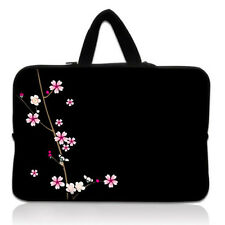 "Flower BLK 10"" 10.1"" Handle Netbook Laptop For iPad Tablet Sleeve Case Bag Cover"