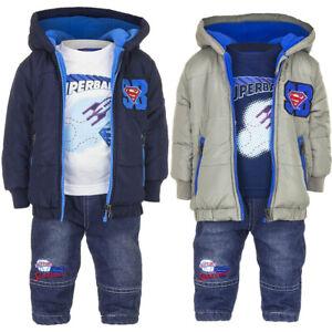 Abbigliamento bambino neonato completo maglietta giubbino jeans bimbo 6 12 18 24