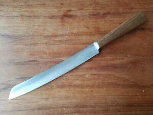 Vintage MILLS MOORE Table Knife Wooden Handle Cutlery
