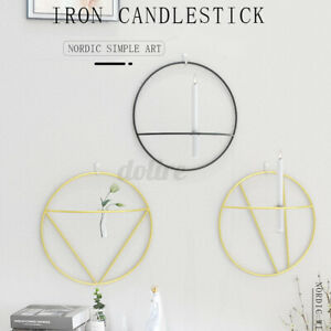 Geometric Nordic 3D Candlestick all Mounted Metal Candle Holder Sconce   W