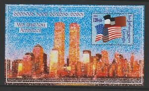 Georgia - 2001, Support for America, World Trace Centre sheet - MNH - SG MS370