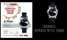 Preisträger: XEMEX SPEEDWAY 5000 Automatik Herrenuhr Saphirglas Kautschukband