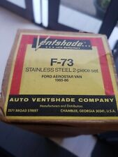 AVS 2 Pc Stainless Window Vent Visor FORD AEROSTAR VAN 1985-1986 F-73