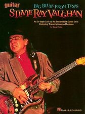 """""""STEVIE RAY VAUGHAN BIG BLUES FROM TEXAS"""" GUITAR MUSIC BOOK-LESSONS-NEW ON SALE!"""