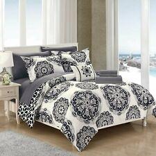 Pernilla 6/8 Piece Comforter Bed in a Bag Sheet Set Decorative Shams Black