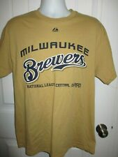 NWOT MLB Milwaukee Brewers Men's T Shirt from Majestic- Size Large