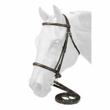 EquiRoyal Fancy Stitched Raised Snaffle Bridle - Brown - Full - 21-9558-7 -
