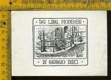 Ex Libris Originale Di Giorgio Dieci a 387 Dai Libri Modenesi