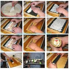 Perfect Sushi Roll Maker Kit Rice Roller Mold Mould Chef Kitchen DIY Set A