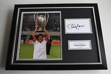 Franco Baresi SIGNED FRAMED Photo Autograph 16x12 display AC Milan AFTAL & COA