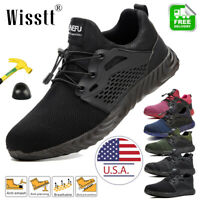 Womens Work Boots Steel Toe Cap Safety Shoes Reflective Lightweight Sneakers NEW