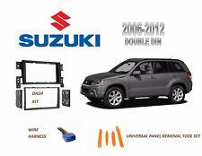 NEW Fits 2006-2012 SUZUKI GRAND VITARA Car Stereo Double DIN Dash Kit, Harness