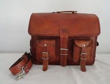 Leather Messenger Laptop Bag Computer Handmade Shoulder Office Satchel Briefcase