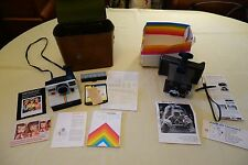 VINTAGE POLAROID LAND CAMERA - LOT OF 2 - W/CASE & MANUALS - ESTATE SALE FIND!