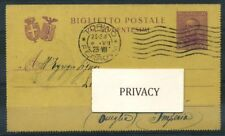 Italia Regno 1929 Intero postale 100% Fil. B25 Biglietto Postale