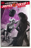 Justice League VS Suicide Squad 1 Gabriele Dell'otto B&W Variant Harley Quinn
