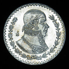 1965 Mexico 1 Peso .100 silver coin BU Sparkling Gem!