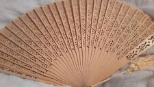 Incredible Vintage Wooden Fan in Original Box Excellent Condition Amazing Detail