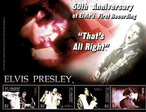 St. Vincent 2004 - SC# 3430 Elvis Presley, 1st Recording - Sheet of 4 Stamps MNH