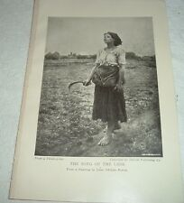 1919 THE SONG OF THE LARK from painting by Jules Adolphe Breton Print