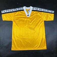 Vintage Lotto Mens S Yellow White Jersey Shirt Soccer Football Canada Made Nwot