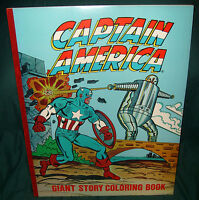 """CAPTAIN AMERICA GIANT STORY COLORING BOOK, VF-NM, UNUSED, 22"""" x 17"""" 1978"""