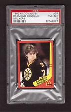 Ray Raymond Bourque Boston Bruins 1982 McDonalds Hockey Stickers #28 PSA 8 NM-MT