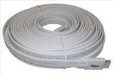 S.A.C. 10m Piatto Bianco HDMI lead 2.0 3D / 2160p Professional Cavo