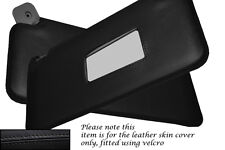 BLACK STITCHING FITS FIAT PUNTO MK1 93-99 2X SUN VISORS LEATHER COVERS ONLY
