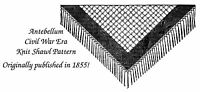 1858 Antebellum Civil War Shawl Knitting Pattern DIY Historical Reenactment Knit
