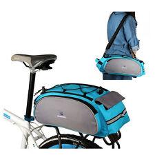 Blue ROSWHEEL Bike Rack Pack Seat Bag Rear Pack Trunk Pannier Handbag