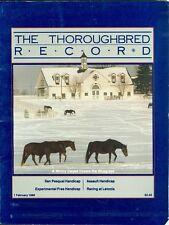 1986 Thoroughbred Record Magazine: Snow at the Bluegrass/Assault Handicap