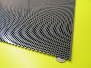 """PVC Type I Perforated Sheet, 1/8"""" Thick x 24"""" x 24"""", 1/8"""" Dia Hole, Staggered"""