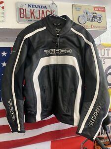 Mens TARGA Leather Motorcycle Jacket Size 54 (50 Ins) EU 64 Sports Bike Racing