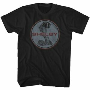 Shelby Tall T-Shirt Vintage Snake Logo Black Tee
