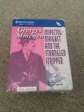 Simenon MAIGRET & THE STRANGLED STRIPPER cassettes Michael Prichard reading audi