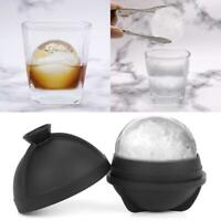 Ice Ball Maker Mold Silicon Sphere Mould Whiskey Party Tray Bar 6cm Cube E1Q3