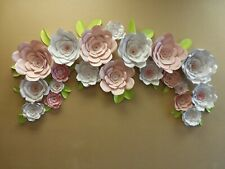 """20 GIANT FLOWERS up to 18"""" FULLY ASSEM. WEDDING PHOTO BACKDROP SHOWER USA MADE"""