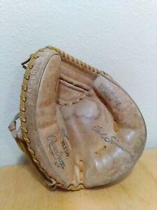 Vintage Rawlings MJ50 Ted Simmons Brown Baseball Catchers Mitt Glove Left