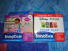 Lot 2 VTECH INNOTAB GAME  Disney DocMcStuffins - Disney Pixar  - Pixar Play
