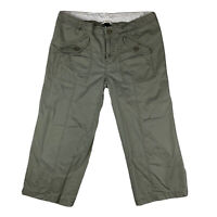 Gap Women 10 Capri Cropped Pants Slacks Straight Mid Rise Pockets Green