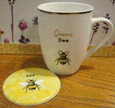 """Jones hogar y regalo """"Queen Bee"""" Taza de Cerámica Posavasos & Conjunto de Regalo"""