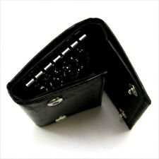Black Men's Genuine Leather Key Chain Holder Case Wallet 5 Ring Bill Holder