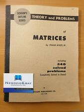 matematica matrici AYRES 1962 SCHAUM'S Theory And Problems Of Matrices