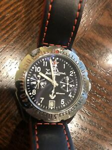 Poljot 3133 Chronograph Vostok Aviator Diver Russian Watch