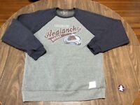 Colorado Avalanche NHL Hockey Retro Style Large Gray Lightweighr Sweatshirt
