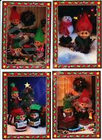 16 Troll Doll Christmas Cards with Envelopes 4 Sets of 4 Designs by Russ New